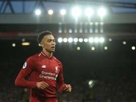 Le défenseur de Liverpool Trent Alexander-Arnold. AFP