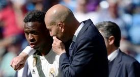 Vinicius quer conquistar Zidane. AFP