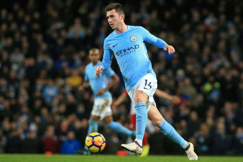 Aymeric Laporte suffered a serious knee injury in September. AFP