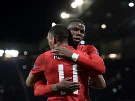 O Man. United bateu o Everton por 0-2. AFP