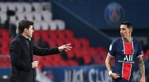 Di María acaba contrato com PSG no verão. AFP