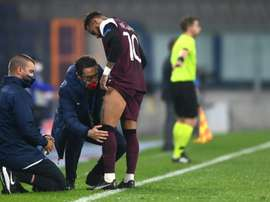 Neymar got injured for PSG. AFP