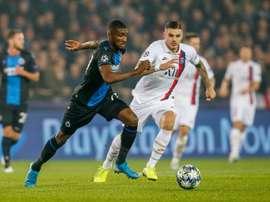 Les compos probables du match de Ligue des Champions entre le PSG et le Club Bruges. AFP