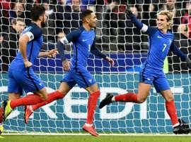 A França bateu o País de Gales por 2-0. AFP