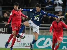 Les compos probables du match de Ligue 1 entre Nice et Strasbourg. AFP