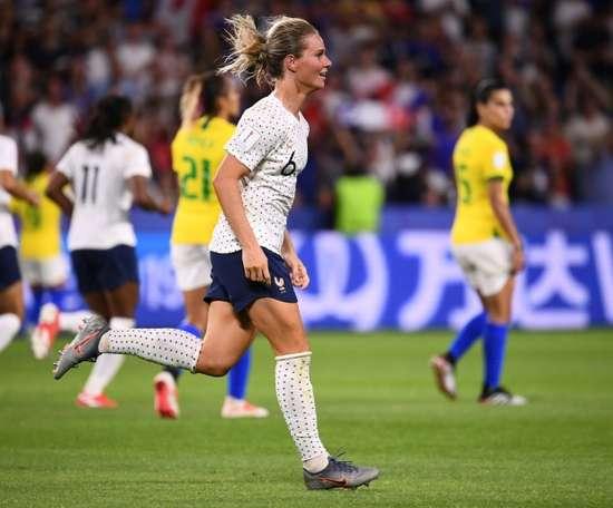 Henry a donné la victoire aux Bleues face au Brésil. AFP
