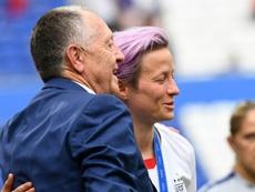 L'OL en négociations pour reprendre le club de Rapinoe. AFP