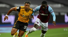 Adama Traore is a Wolves player for the moment. AFP