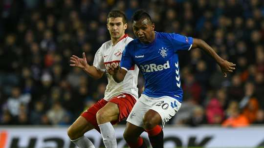 Morelos (R) could move to Eintracht Frankfurt this summer. AFP