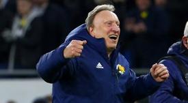 El Cardiff gana en el añadido. AFP