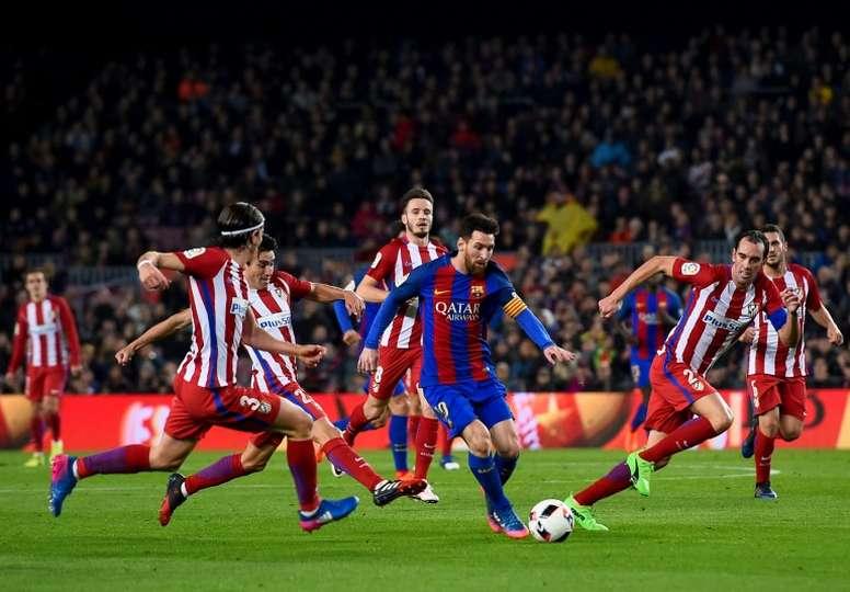 Les compositions probables du Barça et de l'Atlético. AFP
