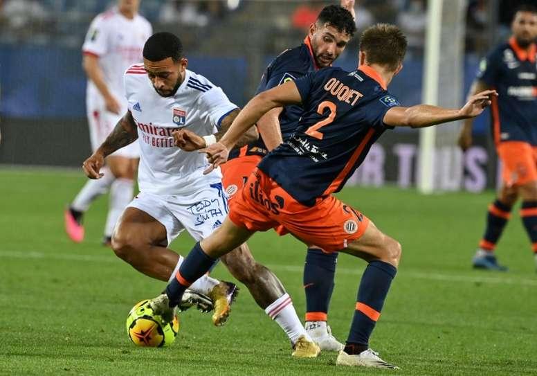 Lyon chute à Montpellier. AFP