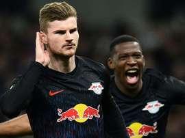 Não existe acordo entre Leipzig e o Chelsea. AFP