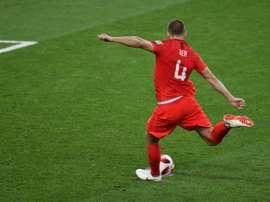 Eric Dier buteur décisif aux tirs au but lors de la qualification de l'Angleterre. AFP