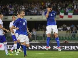 Italia superó con nota su última prueba antes de la Eurocopa. AFP