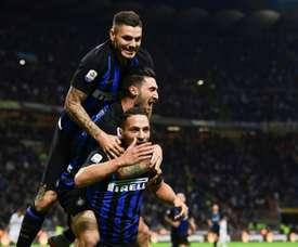 L'Inter bat la Fiorentina 2-1. AFP