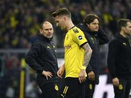 Reus may be on the bench v Bayern despite being injured. AFP