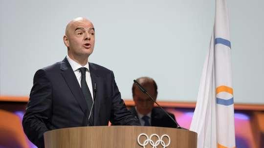 Infantino préconise d'organiser la CAN tous les quatre ans. AFP