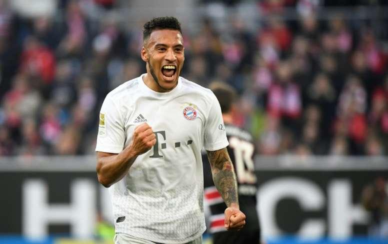 Le milieu français du Bayern Munich, Corentin Tolisso, buteur lors du match de Bundesliga à Dusseldorf, le 23 novembre 2019