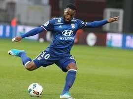 Lattaquant de Lyon Alexandre Lacazette a ouvert le score pour son équipe sur le terrain de Metz. AFP