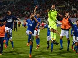 L'Italie était tête de série. AFP