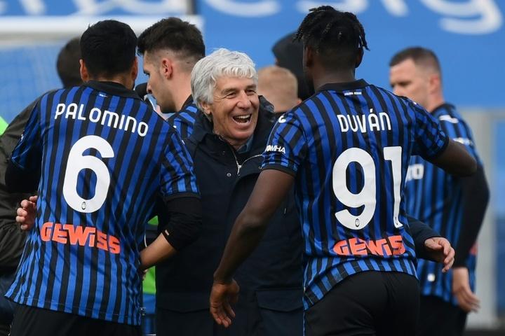 El Atalanta tira de oficio y condena al Benevento. AFP