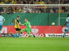 Dortmund passe facilement le premier tour. AFP