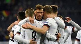 Alemania ya está clasificada a la Eurocopa. AFP