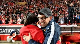 El entrenador del Union Berlin vuelve al trabajo. AFP