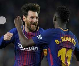 Messi foi, para não variar, um dos protagonistas do jogo. AFP