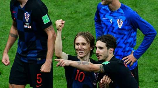 Vrsaljko evitó hablar del futuro de Modric. AFP