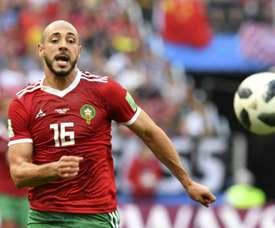 Amrabat es una de las piezas clave de Marruecos. AFP