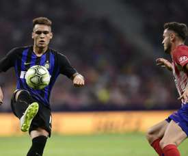Lautaro Martinez was the difference in the match. AFP