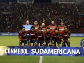 Les joueurs du Sport Club do Recife avant un match de Copa Sudamericana le 6 avril 2017. AFP