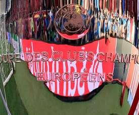 Le trophée destiné au vainqueur de la Ligue des Champions. AFP