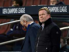 Koeman will tell the players of his decision. AFP