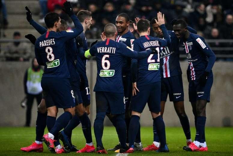Le PSG rejoint Lyon en finale de la Coupe de la Ligue. AFP