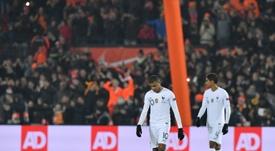 Varane defendió a Mbappé. AFP