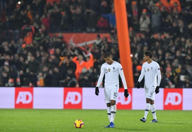Varane habló sobre el estado de forma de Mbappé. AFP