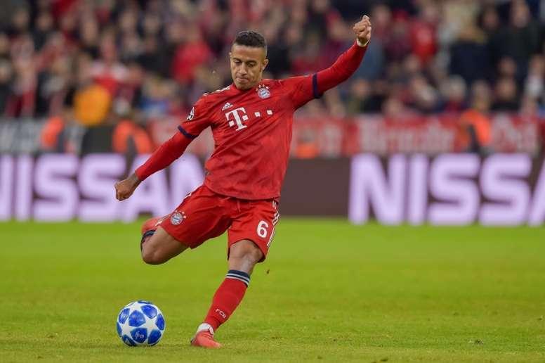 Thiago no está bien en el Bayern. AFP/Archivo