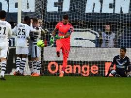 El Rennes sorprendió en Burdeos. AFP