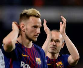 Ivan Rakitic  Andres Iniesta FC Barcelone. AFP