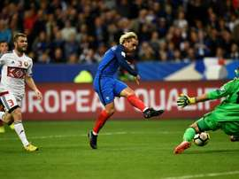 Griezmann scored France's first goal in their 2-1 victory over Belarus. AFP