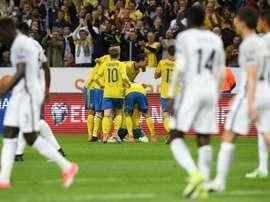 L'équipe de France s'incline devant la Suède en qualification pour le Mondial-2018 à Solna. AFP