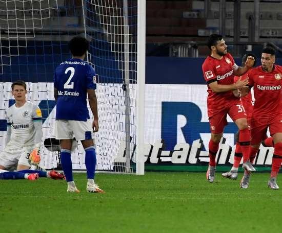 Leverkusen entrou na zona que dá vaga à Champions League. AFP