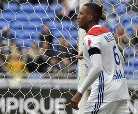 Le défenseur brésilien de Lyon Marcelo lors de la réception de Dijon. AFP
