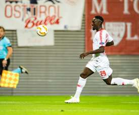 Jean-Kevin Augustin, lors dun match d'Europa League face à Salzbourg. AFP