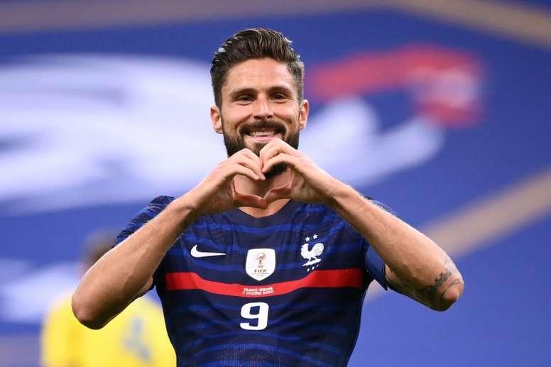 Giroud toujours dans le viseur de l'Inter Milan. afp