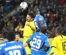 Três pontos que colocam o Hoffenheim na briga pela Europa. AFP