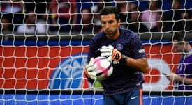 Buffon will line up against his former teammates son. AFP